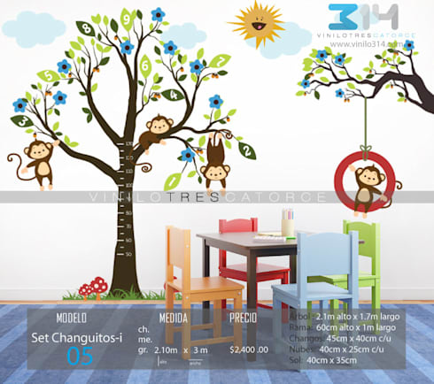 Vinilos decorativos arboles infantiles y sets decorativos - Vinilos arboles infantiles ...