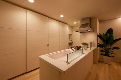 桐の家: 住工房一級建築士事務所が手掛けたキッチンです。
