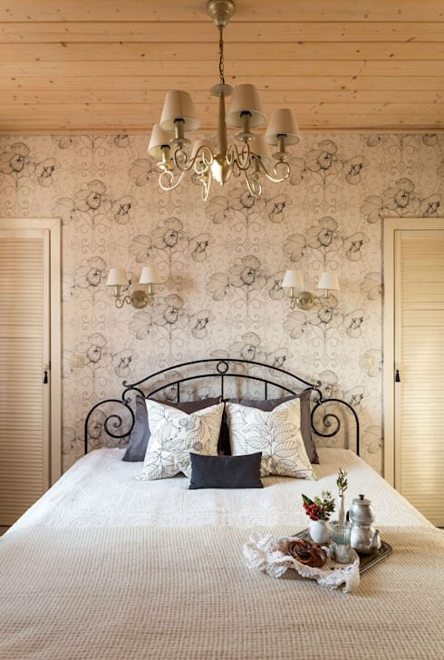 غرفة نوم تنفيذ Tatiana Ivanova Design