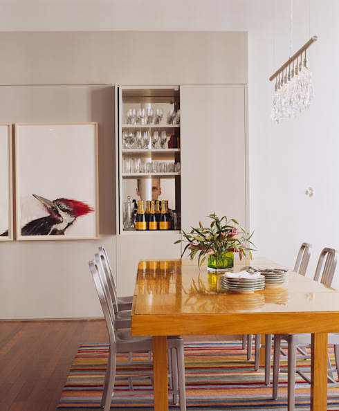 Meltzer Ames Loft:  Dining room by Specht Architects