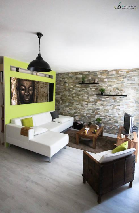 Projekty,  Salon zaprojektowane przez Violaine Denis