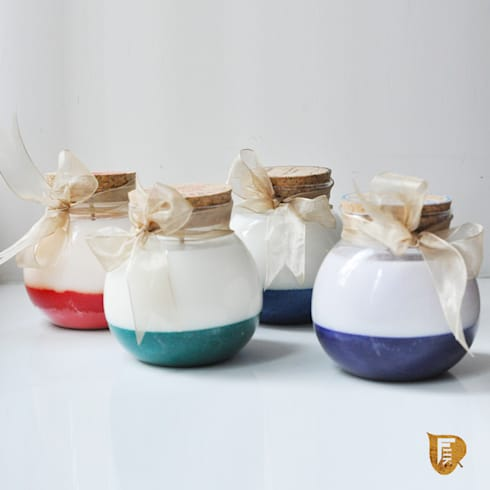 Aroma Soy Wax Candles - Rose, Rosemary, Pine and Lavender Fragnances: colonial Spa by The House of Folklore