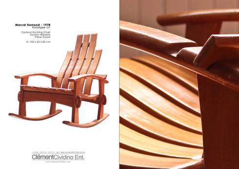 Prototype rocking Chair / Clément Cividino: Art de style  par Galerie Clément Cividino Ent.
