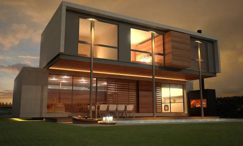 contrafachada: Casas de estilo moderno por METODO33