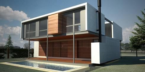 MKIT-100: Casas de estilo moderno por METODO33