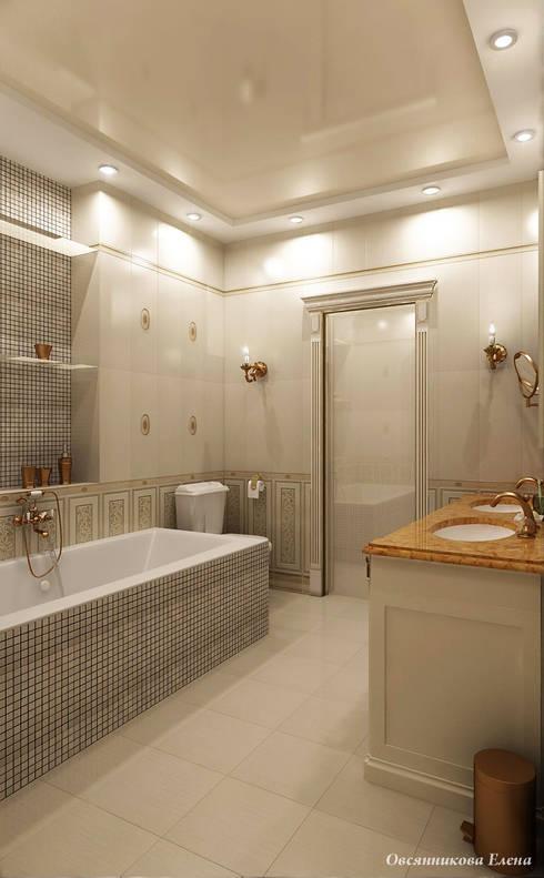 Елена Овсянниковаが手掛けた浴室