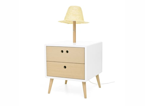 NEL bedside table with lamp (perspective view of the standard option): Casa  por DAM