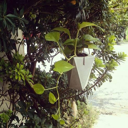 Macetas Colgante de Concreto: Hogar de estilo  por Majui