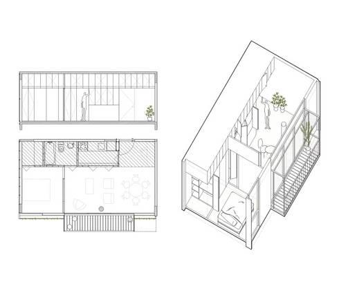 Quintana 4598:  de estilo  por IR arquitectura