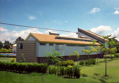 VISTA PARCIAL RESIDÊNCIA JBF: Casas modernas por Douglas Piccolo Arquitetura e Planejamento Visual LTDA.