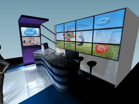 Stand feria ENTEl VoIP: Centros de exhibiciones de estilo  por Mayarik