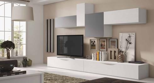 Salones y dormitorios l nea moderna por crea y decora - Muebles de salon originales ...