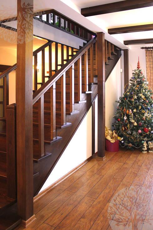 Vestíbulos, pasillos y escaleras de estilo  de Lesomodul