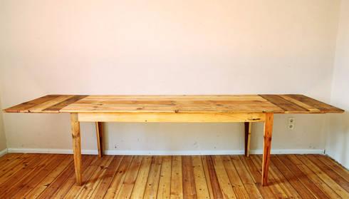 tisch aus alten berliner dielen por dielerei homify. Black Bedroom Furniture Sets. Home Design Ideas