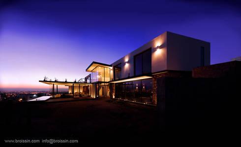 Fachada este: Casas de estilo moderno por BROISSIN