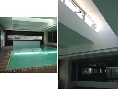 Habitação Unifamiliar: Piscinas modernas por AMVC - Arquitectos Associados