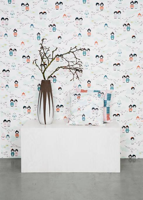 Wallpaper:  Walls & flooring by BY MAY/ Siluett Frost Window Film