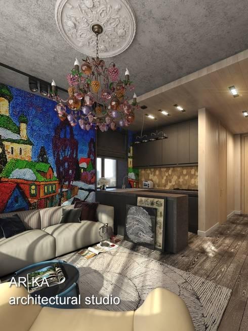 Супер - МИНИ с хорошим вкусом: Кухни в . Автор – AR-KA architectural studio