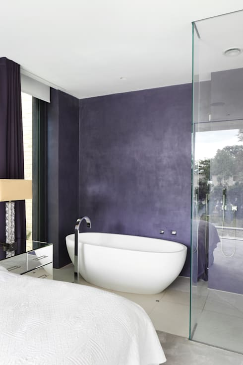 E2 PAVILION ECO HOUSE, BLACKHEATH: modern Bathroom by E2 Architecture + Interiors