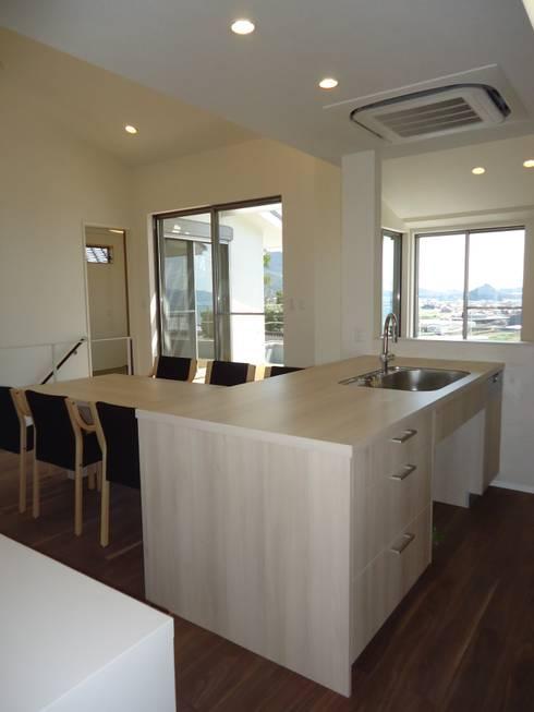 海の見える家: 鶴巻デザイン室が手掛けたキッチンです。