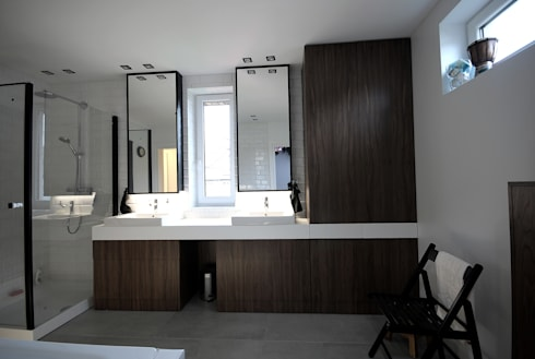 projekt wnętrza domu w Wiśniowej Górze -156mkw: styl , w kategorii Łazienka zaprojektowany przez Piotr Stolarek Projektowanie Wnętrz