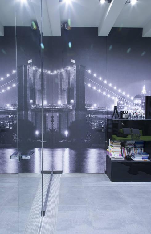 фотообои с изображением Бруклинского моста: Стены и пол в . Автор – Архитектурно-дизайнерское бюро Натальи Медведевой 'APRIORI design'