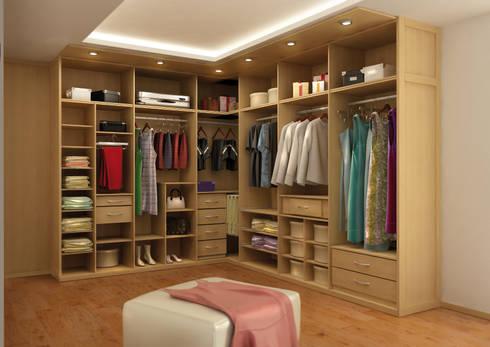 Vestidores de astidkora homify for Closets abiertos pequenos