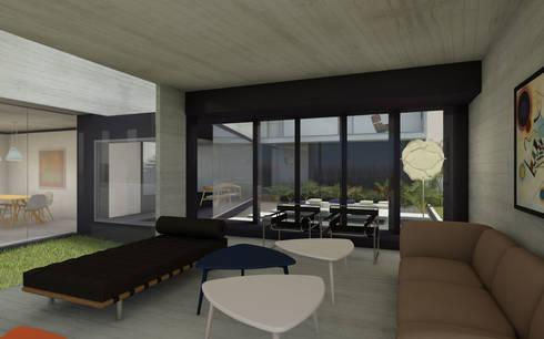 CASA TTTBN: Livings de estilo minimalista por Najmias Oficina de Arquitectura [NOA]