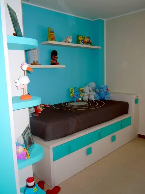 Habitaci n juvenil chico de la alcoba homify for Vinilos habitacion juvenil chico