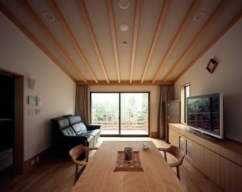 リビング: 忘蹄庵建築設計室が手掛けたリビングです。