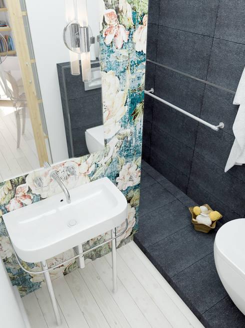 Vue plongeante  lavabo rétro !: Salle de bains de style  par Architecture du bain