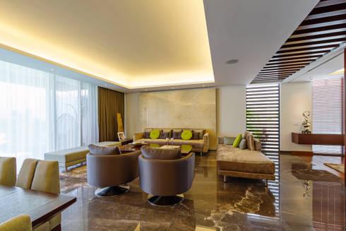 Casa Manantiales: Salas de estilo moderno por Enrique Cabrera Arquitecto