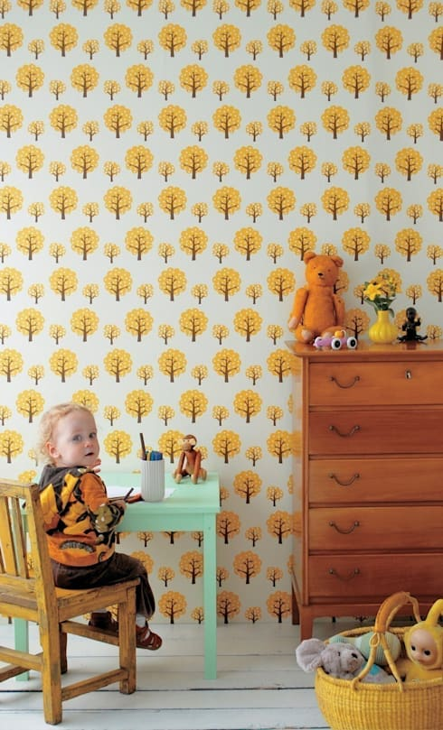 Behang Dotty van Ferm Living:  Kinderkamer door De Kleine Generatie