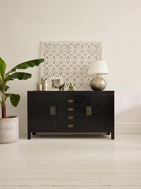 Small Canton Black Sideboard:  Dining room by LOMBOK