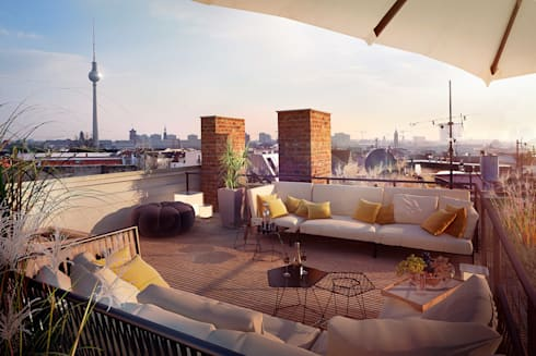 berlin rooftop de loomilux homify. Black Bedroom Furniture Sets. Home Design Ideas