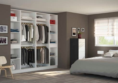Placard-Dressing dans une chambre d\'adulte by Centimetre.com | homify