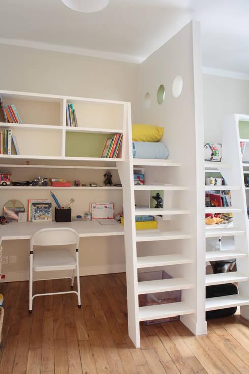 Aménagement d'un appartement de 70m² - Paris: Chambre d'enfant de style  par MadaM Architecture
