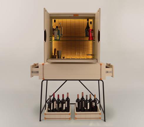 Mueble Bodega: Bodegas de estilo moderno por Eugenio Aguirre
