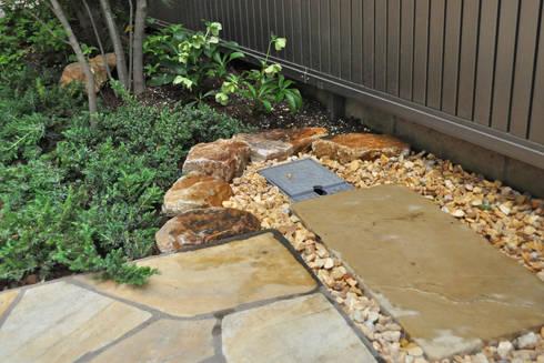 既存水栓の処置: 新美園が手掛けた庭です。