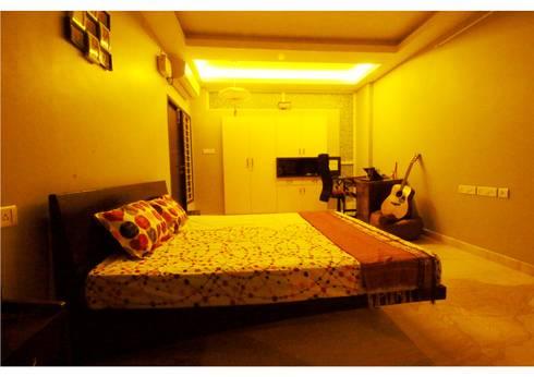 URBAN NEST: modern Bedroom by Aadyam Design Studio