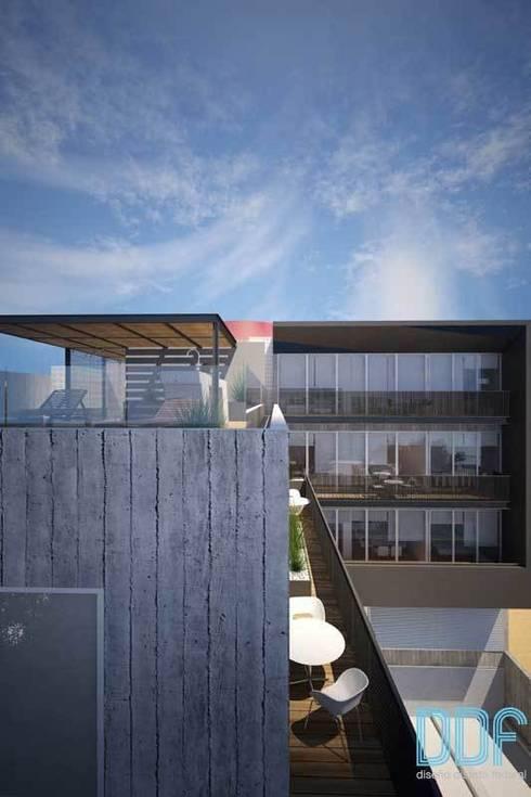 Querétaro Q3: Casas de estilo moderno por Diseño Distrito Federal
