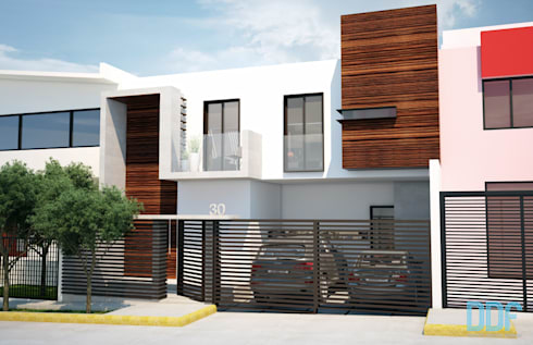 Casa Satélite 1: Casas de estilo moderno por Diseño Distrito Federal