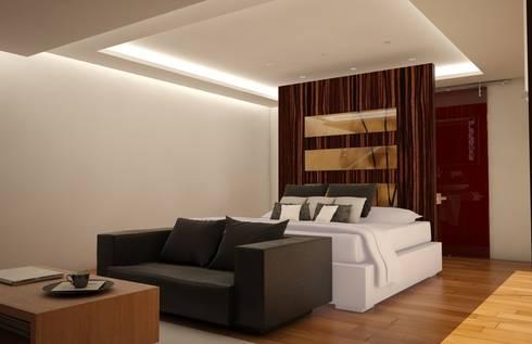 Casa Satélite 1: Recámaras de estilo moderno por Diseño Distrito Federal