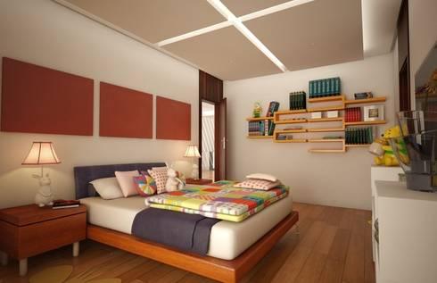 Casa Satélite 1: Recámaras infantiles de estilo moderno por Diseño Distrito Federal