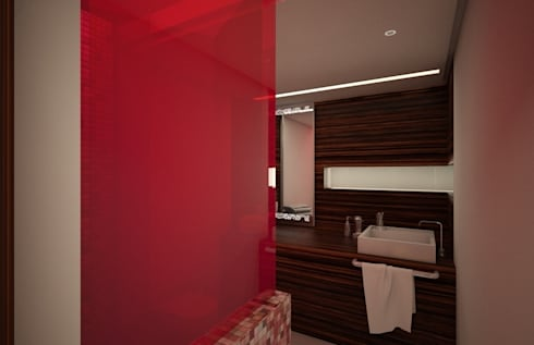Casa Satélite 1: Baños de estilo  por Diseño Distrito Federal