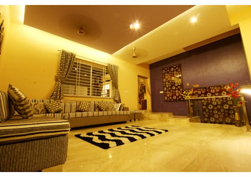 URBAN NEST: modern Living room by Aadyam Design Studio
