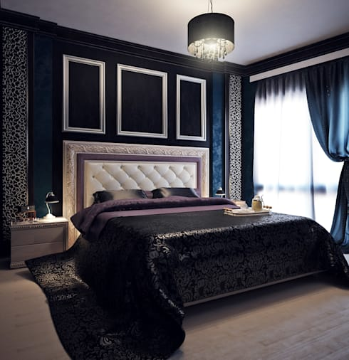 Projekty,  Sypialnia zaprojektowane przez Яникова Светлана