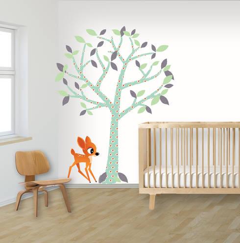 Muurstickers babykamer en kinderkamer:  Kinderkamer door decodeco.nl