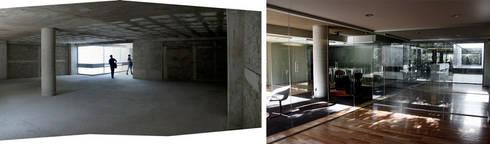 Aménagement de bureaux – 350m2:  de style  par Créateurs d'interieur