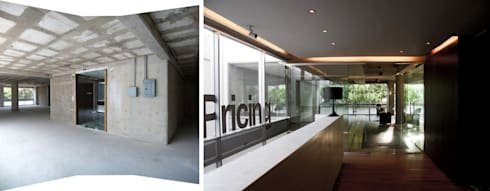 Aménagement de bureaux - 350m2:  de style  par Créateurs d'interieur